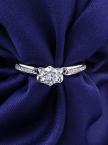 Classic 4 claw moissanite solitaire ring (8)