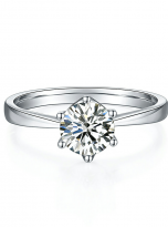 Classic 6 claw moissanite solitaire ring (1)