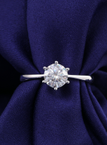 Classic 6 claw moissanite solitaire ring (10)