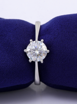 Classic 6 claw moissanite solitaire ring (11)