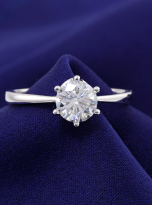 Classic 6 claw moissanite solitaire ring (12)