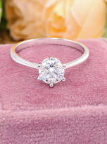 Classic 6 claw moissanite solitaire ring (13)