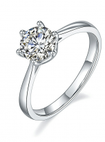 Classic 6 claw moissanite solitaire ring (2)