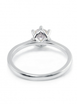 Classic 6 claw moissanite solitaire ring (3)