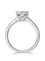 Classic 6 claw moissanite solitaire ring (4)