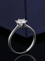 Classic 6 claw moissanite solitaire ring (6)