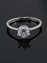 Classic 6 claw moissanite solitaire ring (7)