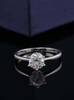Classic 6 claw moissanite solitaire ring (8)