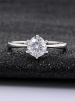 Classic 6 claw moissanite solitaire ring (9)