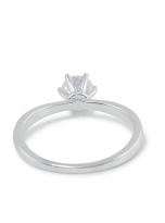 Classic elegant Tiffany style 6 claw moissanite solitaire ring (4)