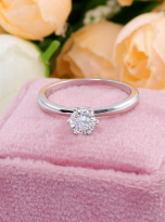 Classic elegant Tiffany style 6 claw moissanite solitaire ring (5)