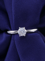 Classic elegant Tiffany style 6 claw moissanite solitaire ring (7)