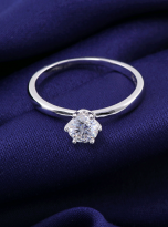 Classic elegant Tiffany style 6 claw moissanite solitaire ring (8)