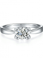 Classic round shaped solitaire engagement ring (2)