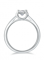 Classic round shaped solitaire engagement ring (3)