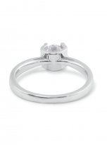 Classic round shaped solitaire engagement ring (4)
