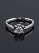 Classic round shaped solitaire engagement ring (5)