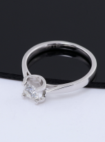 Classic round shaped solitaire engagement ring (6)