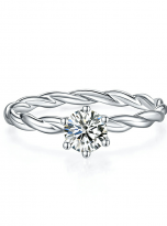 Classic twist solitaire engagement ring (1)