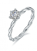 Classic twist solitaire engagement ring (2)