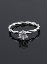 Classic twist solitaire engagement ring (6)