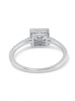 Halo engagement ring boasts a petite band (3)