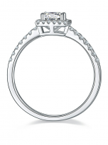 Halo engagement ring boasts a petite band (4)