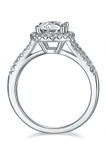 Halo engagement ring with a split shank (3)