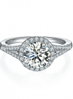 Luxury Halo engagement ring with a split shank (1)