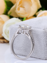Luxury Halo engagement ring with a split shank (11)