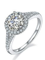 Luxury Halo engagement ring with a split shank (2)