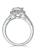 Luxury Halo engagement ring with a split shank (3)