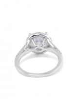 Luxury Halo engagement ring with a split shank (4)