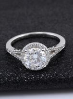 Luxury Halo engagement ring with a split shank (6)