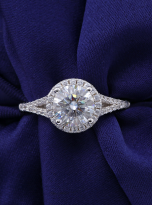 Luxury Halo engagement ring with a split shank (7)
