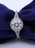 Luxury Halo engagement ring with a split shank (8)