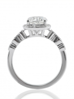 Marquise Shaped Cathedral Halo Cushion Moissanite Engagement Ring 1 (4)