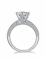 Moissanite Solitaire engagement ring features a petite knife edge design (3)