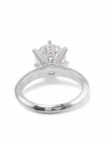 Moissanite Solitaire engagement ring features a petite knife edge design (4)