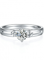 Morden style 4 claw moissanite solitaire ring (1)