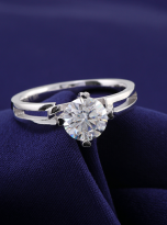 Morden style 4 claw moissanite solitaire ring (11)