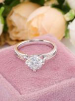 Morden style 4 claw moissanite solitaire ring (12)