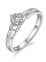 Morden style 4 claw moissanite solitaire ring (2)