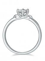 Morden style 4 claw moissanite solitaire ring (3)