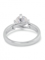 Morden style 4 claw moissanite solitaire ring (4)