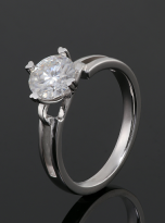 Morden style 4 claw moissanite solitaire ring (5)