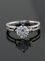 Morden style 4 claw moissanite solitaire ring (6)