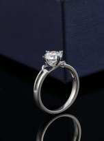 Morden style 4 claw moissanite solitaire ring (7)