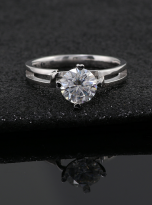 Morden style 4 claw moissanite solitaire ring (8)