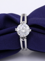 Morden style 4 claw moissanite solitaire ring (9)